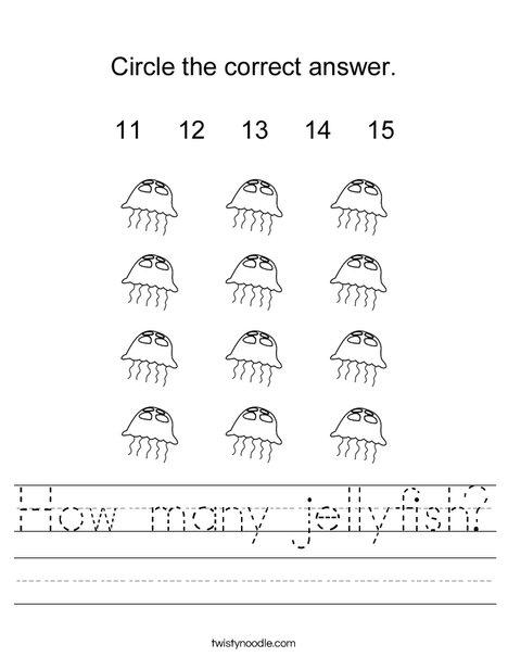 How many jellyfish? Worksheet