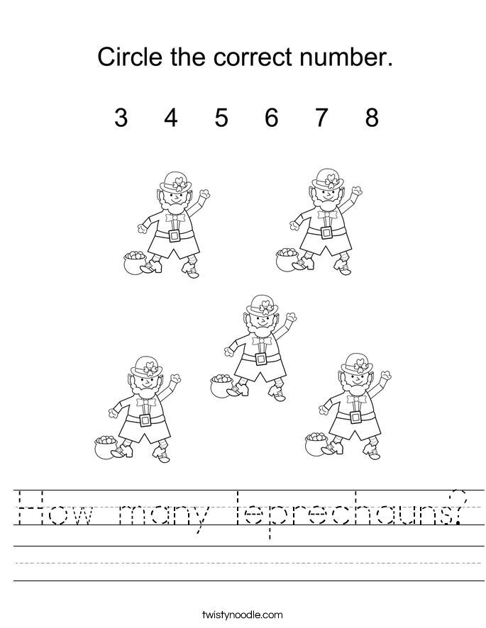 How many leprechauns? Worksheet