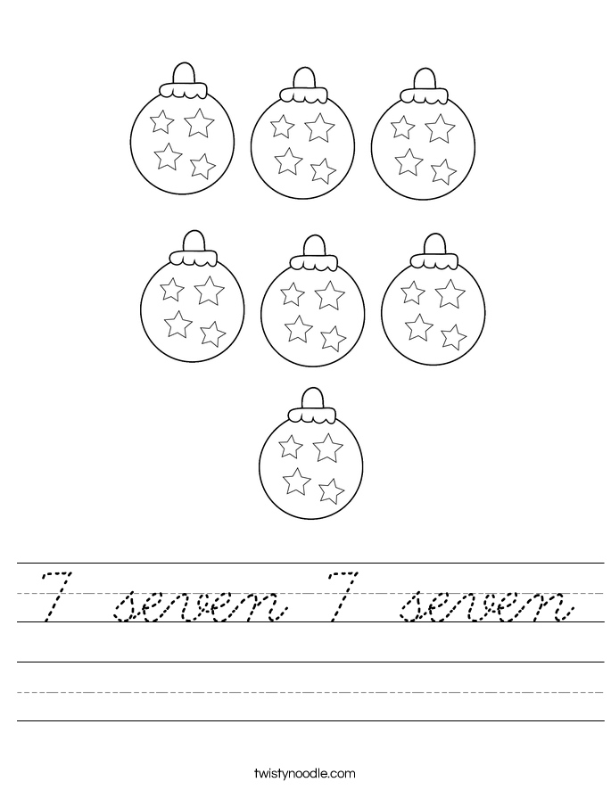 7 seven 7 seven Worksheet