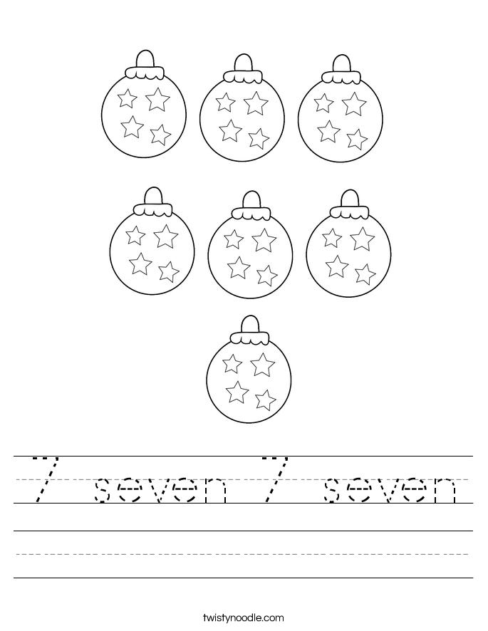 7 seven 7 seven Worksheet