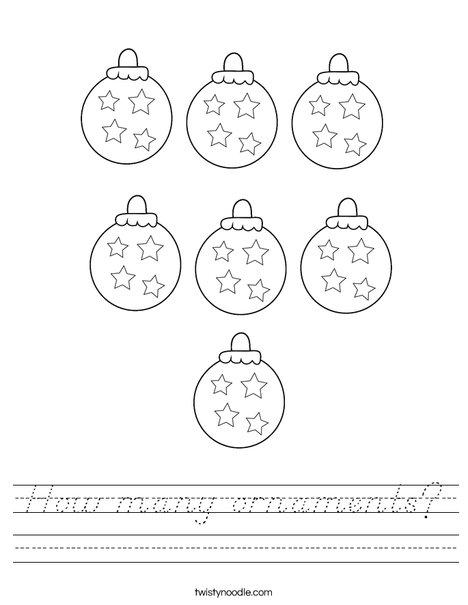 How many ornaments? Worksheet