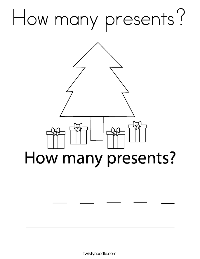 how many presents coloring page