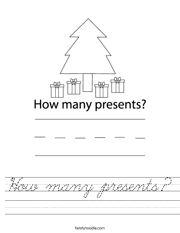 How many presents? Worksheet