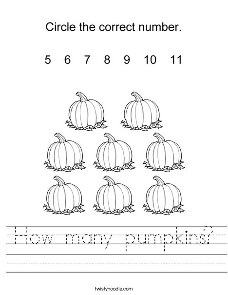 How many pumpkins? Worksheet