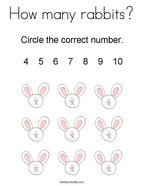 How many rabbits Coloring Page