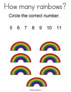 How many rainbows Coloring Page