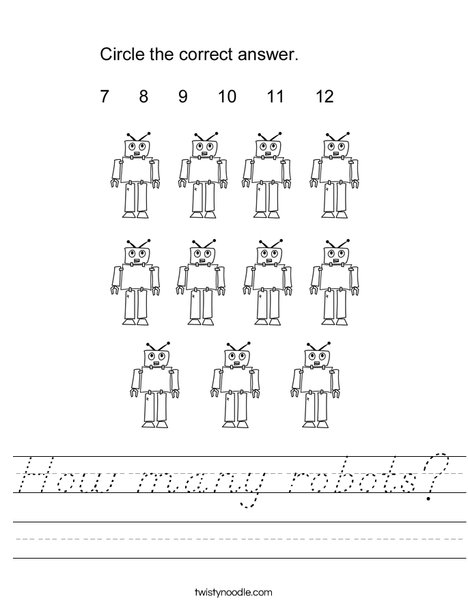 How many robots? Worksheet