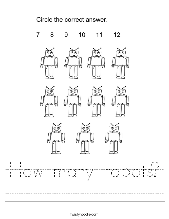 How many robots? Worksheet