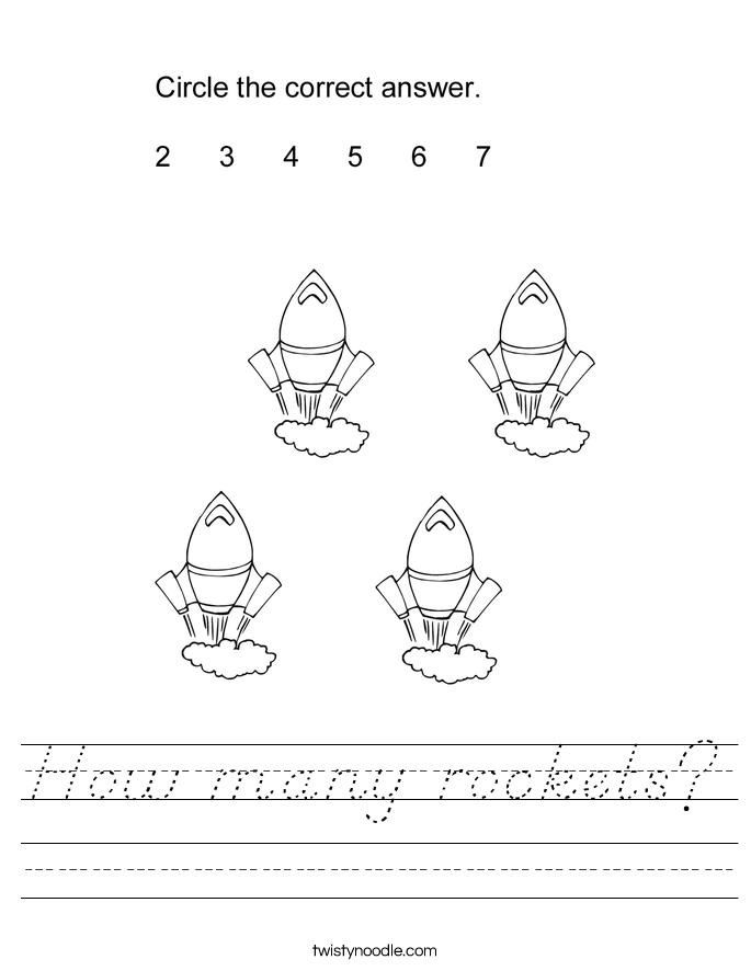 how many rockets worksheet d 39 nealian twisty noodle. Black Bedroom Furniture Sets. Home Design Ideas