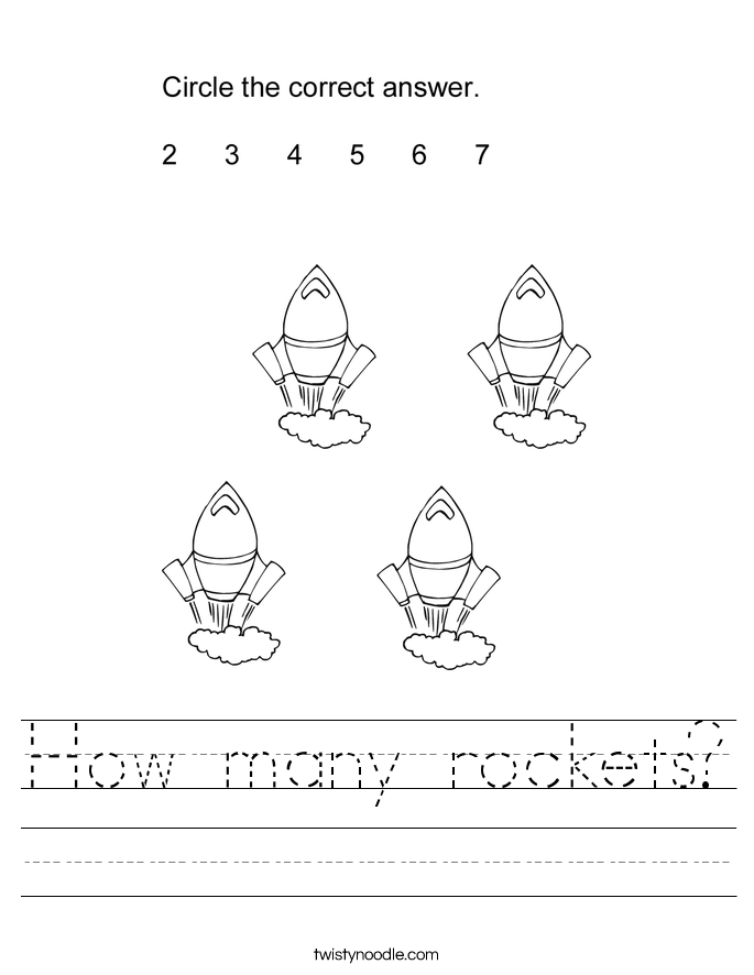How many rockets? Worksheet