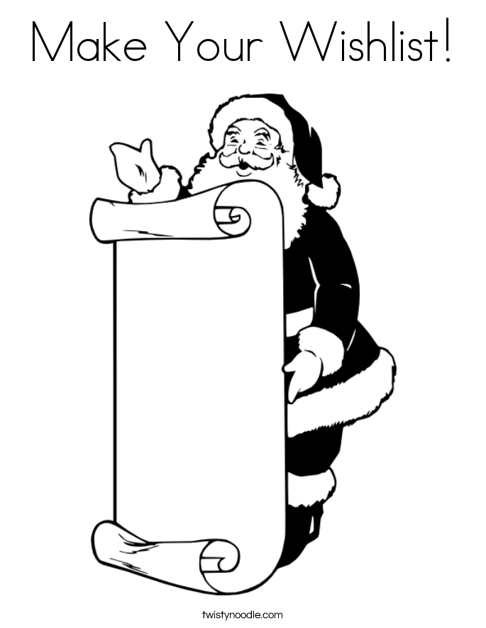 Make Your Wishlist! Coloring Page