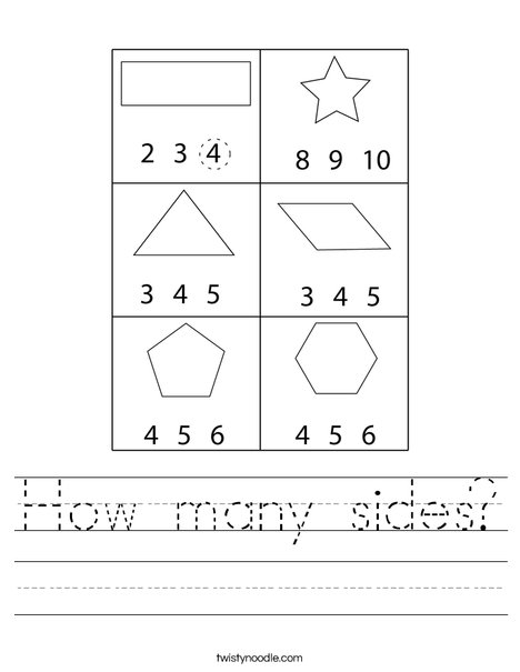 How many sides? Worksheet