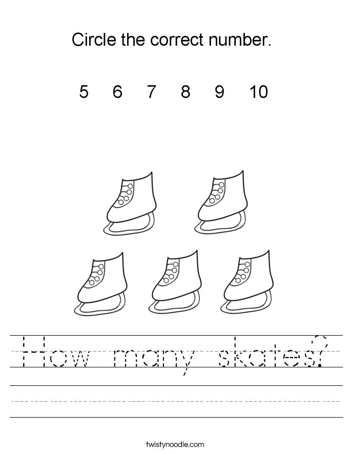 How many skates? Worksheet