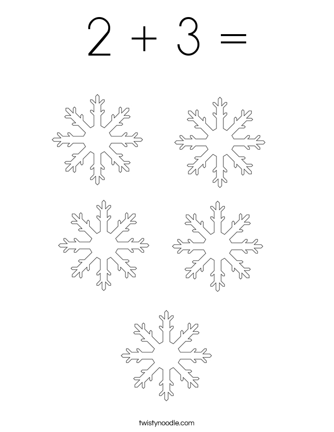 2 + 3 = Coloring Page