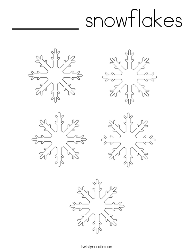 ______ snowflakes Coloring Page