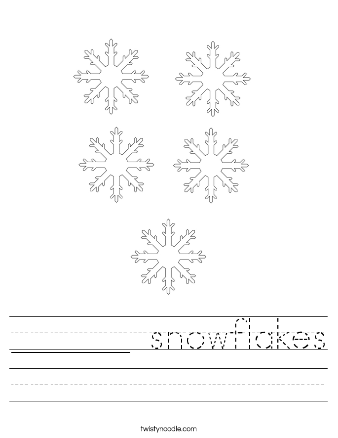 ______ snowflakes Worksheet