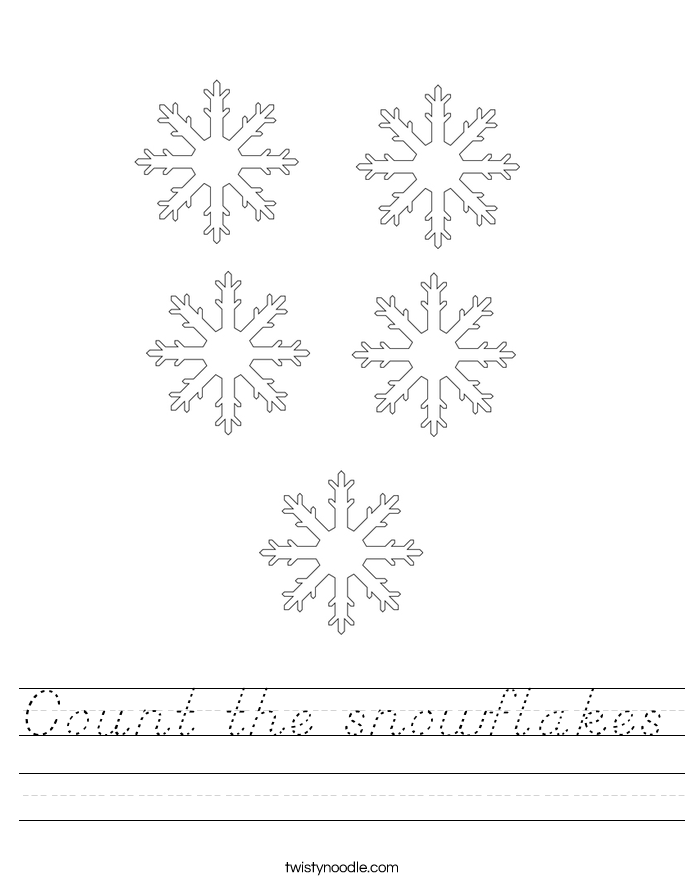 Count the snowflakes Worksheet