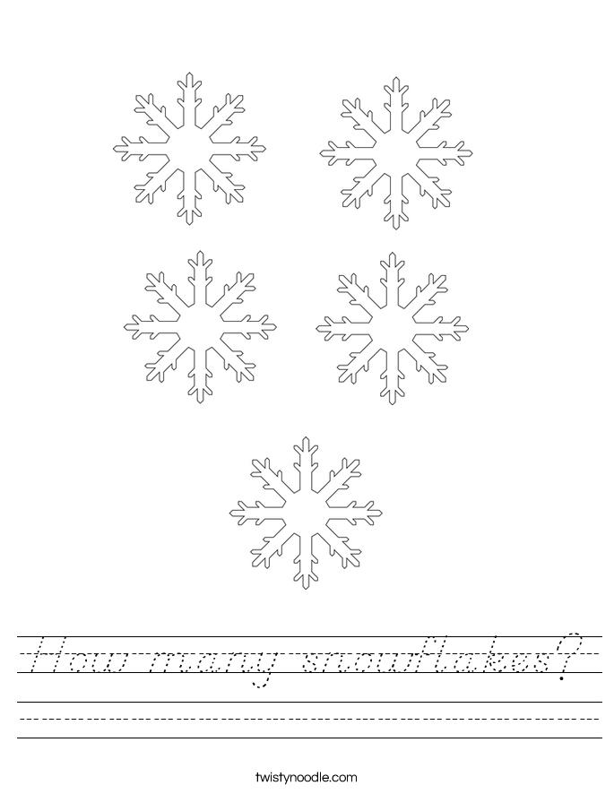 How many snowflakes? Worksheet