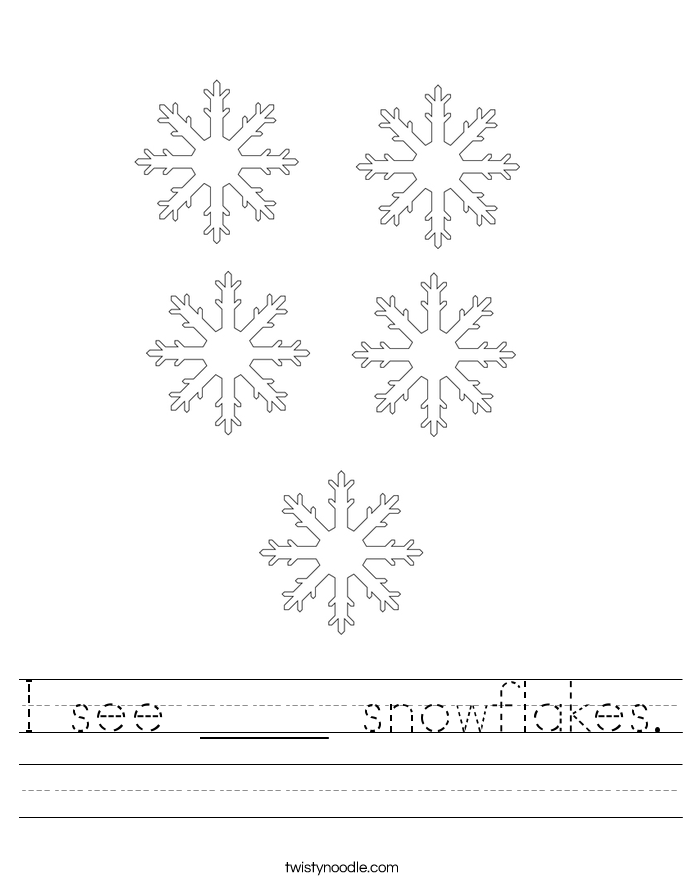 I see ____ snowflakes. Worksheet