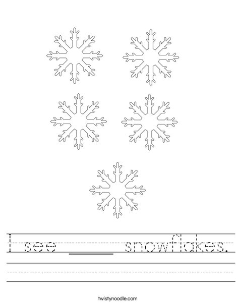 How many snowflakes? Worksheet