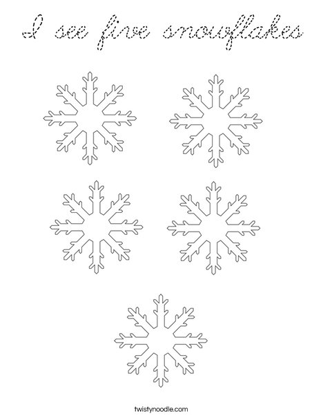 How many snowflakes? Coloring Page