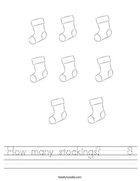 How many stockings? Worksheet