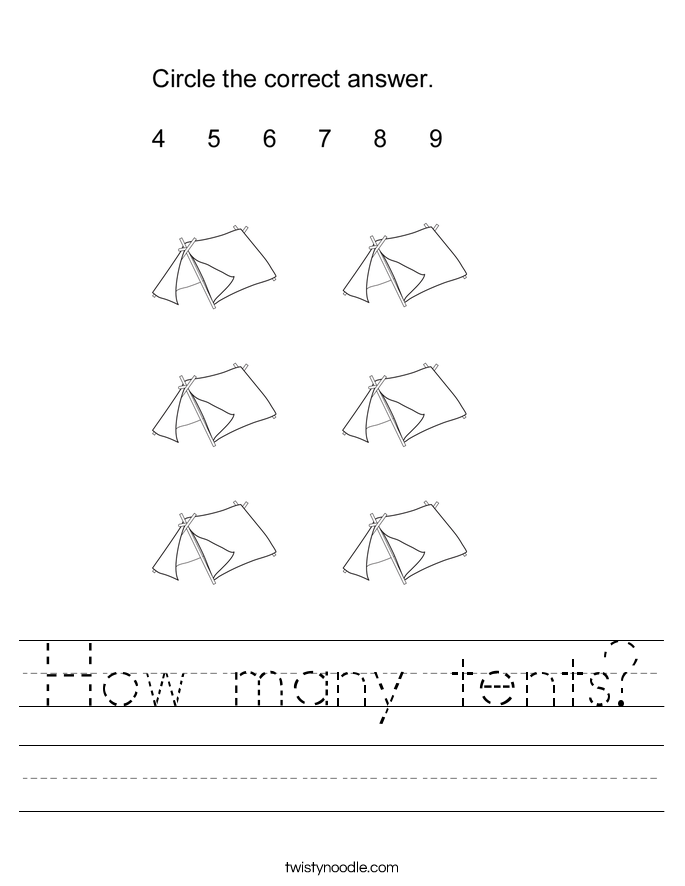 How many tents? Worksheet