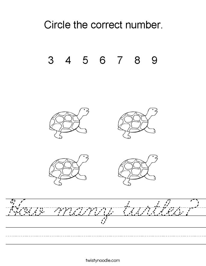 How many turtles? Worksheet