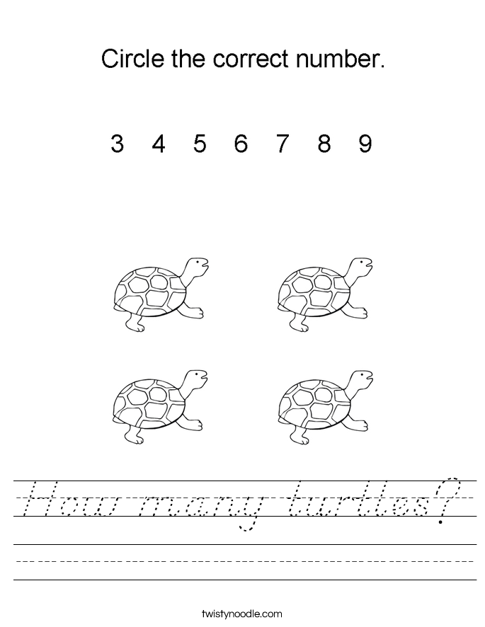 How many turtles? Worksheet