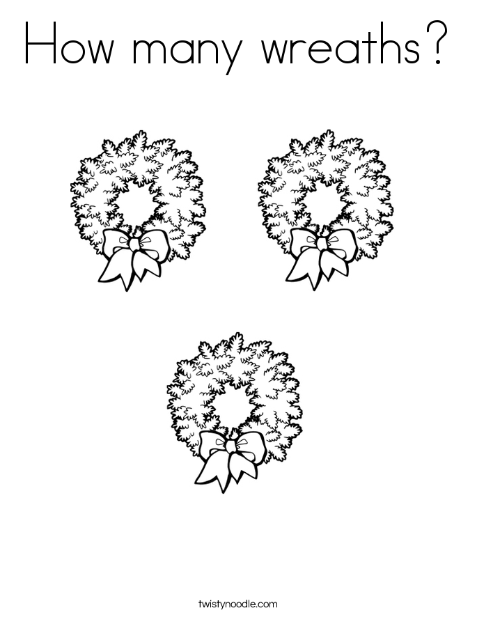 How many wreaths? Coloring Page
