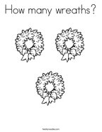 How many wreaths Coloring Page