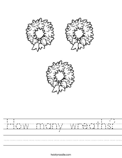 How many wreaths? Worksheet