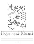 Hugs and Kisses! Worksheet