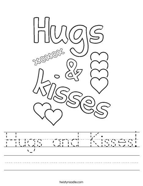 Hugs and Kisses ! Worksheet