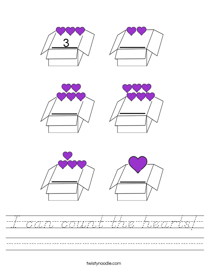 I can count the hearts! Worksheet