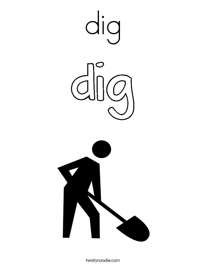 dig Coloring Page