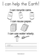 I can help the Earth! Coloring Page
