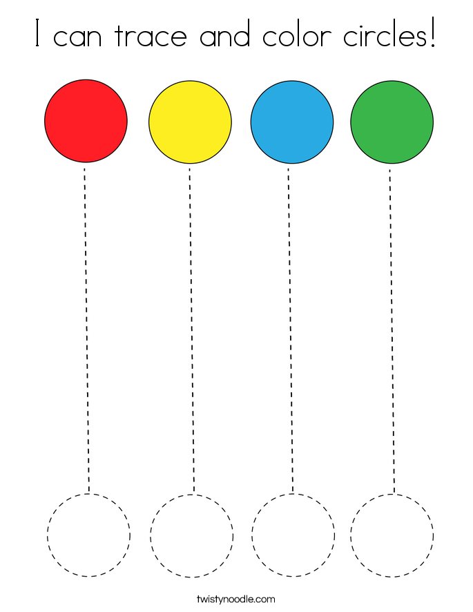 I can trace and color circles! Coloring Page