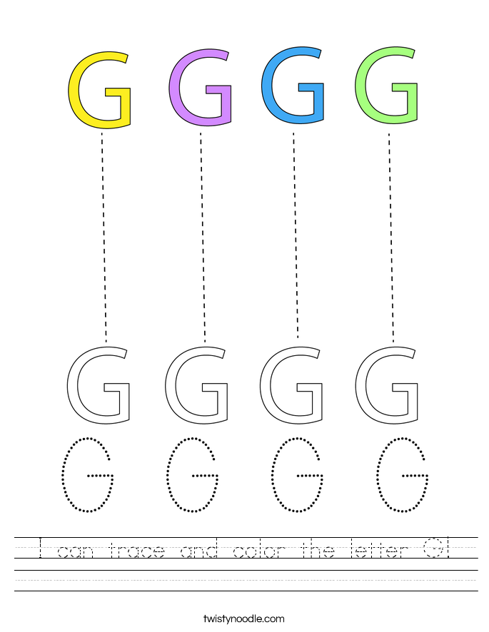 I can trace and color the letter G! Worksheet