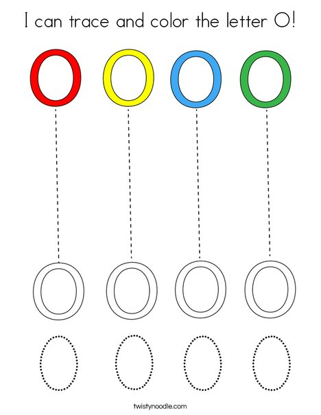 I can trace and color the letter O! Coloring Page