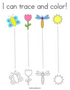 I can trace and color Coloring Page