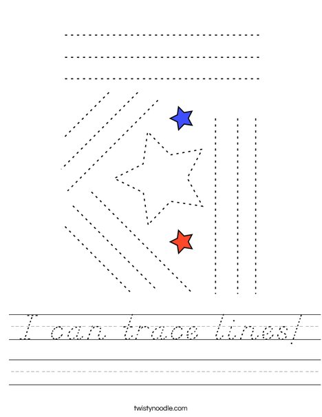 I can trace lines! Worksheet