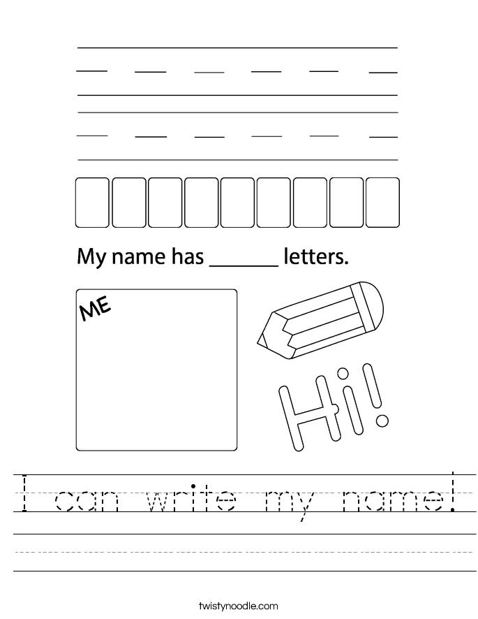 I can write my name! Worksheet