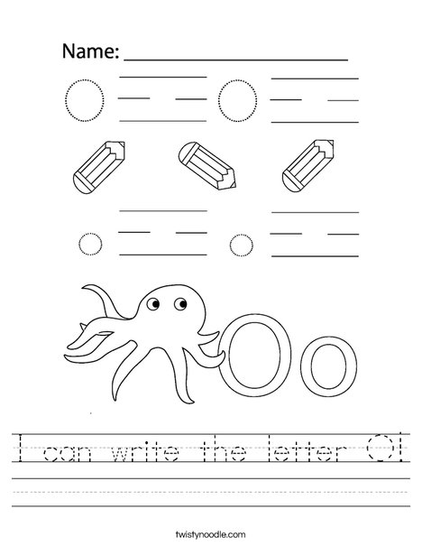 I can write the letter O! Worksheet