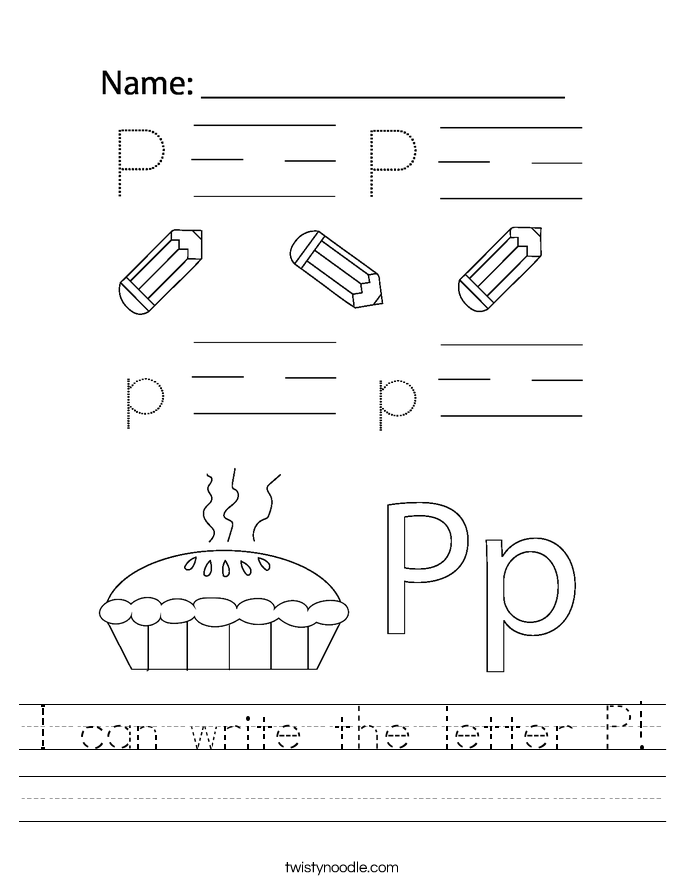 I can write the letter P! Worksheet