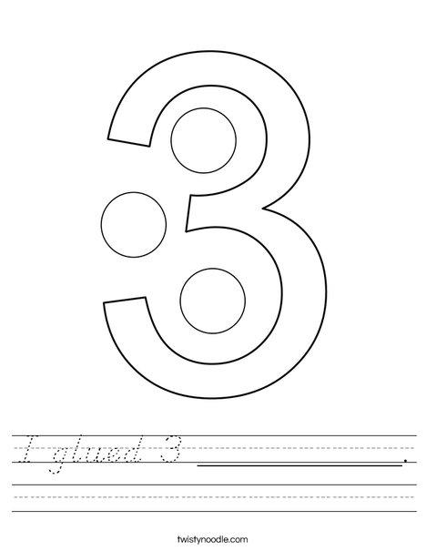 I glued 3 __________. Worksheet