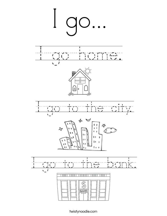 I go...  Coloring Page
