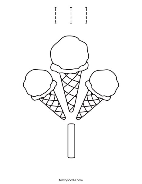 I Ice Cream Coloring Page