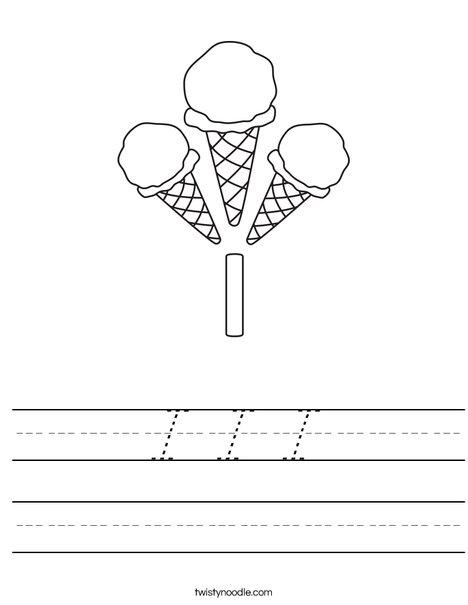 I Ice Cream Worksheet