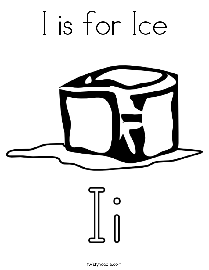 I is for Ice Coloring Page
